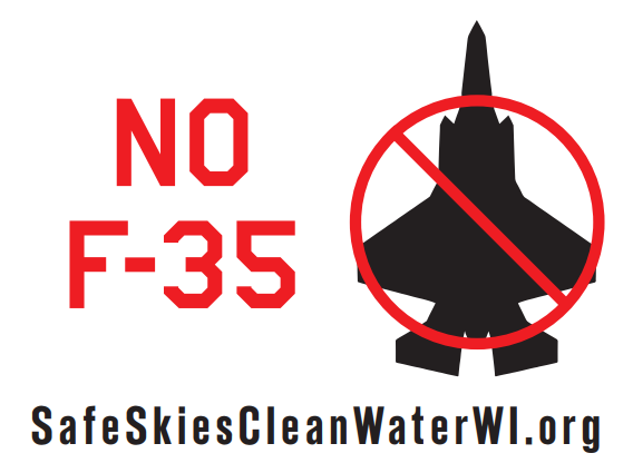 no F35s Yard SIgn